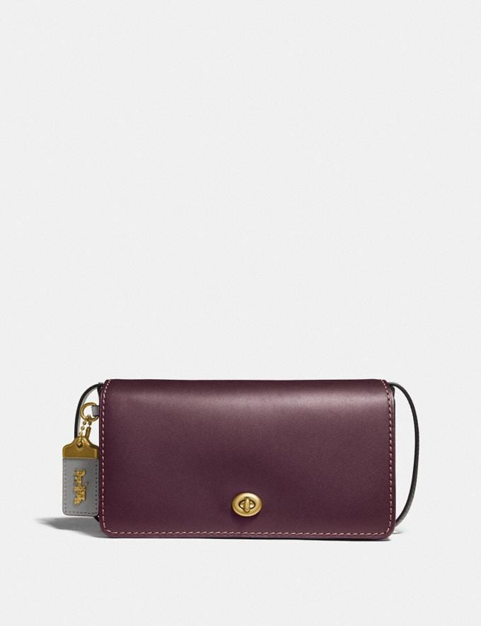 Coach Dinky in Colorblock Oxblood/Brass 30% off Select Full-Price Styles