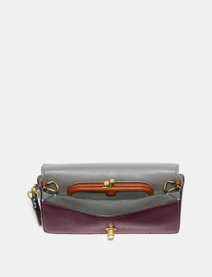 Coach Dinky in Colorblock Oxblood/Brass  Alternate View 2