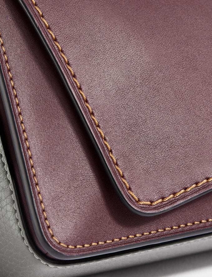 Coach Dinky in Colorblock Oxblood/Brass  Alternate View 6