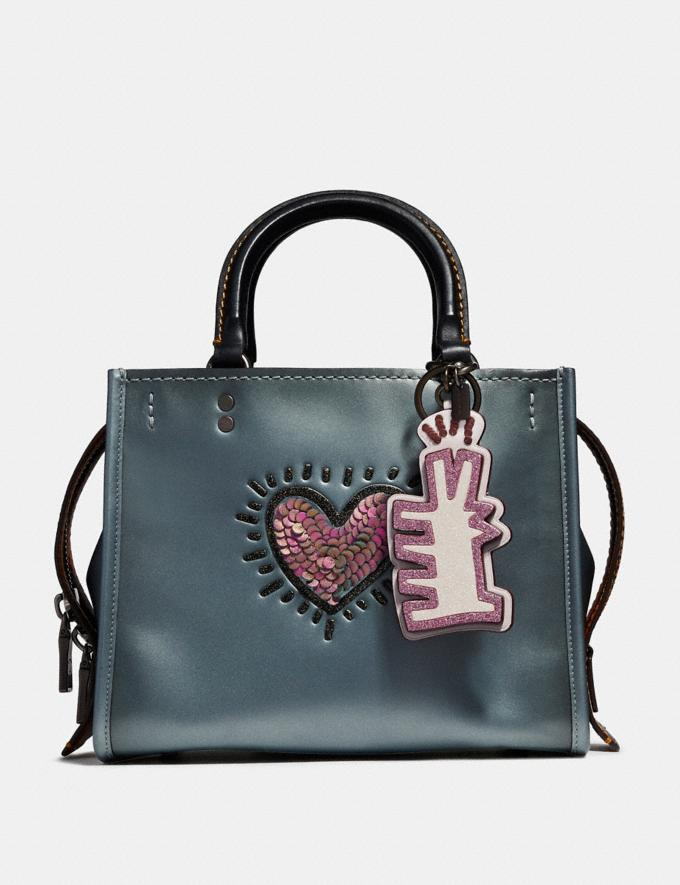 Coach Coach X Keith Haring Bag Charm Ice Pink/Black SALE Victoria Day Sale Women's Alternate View 1