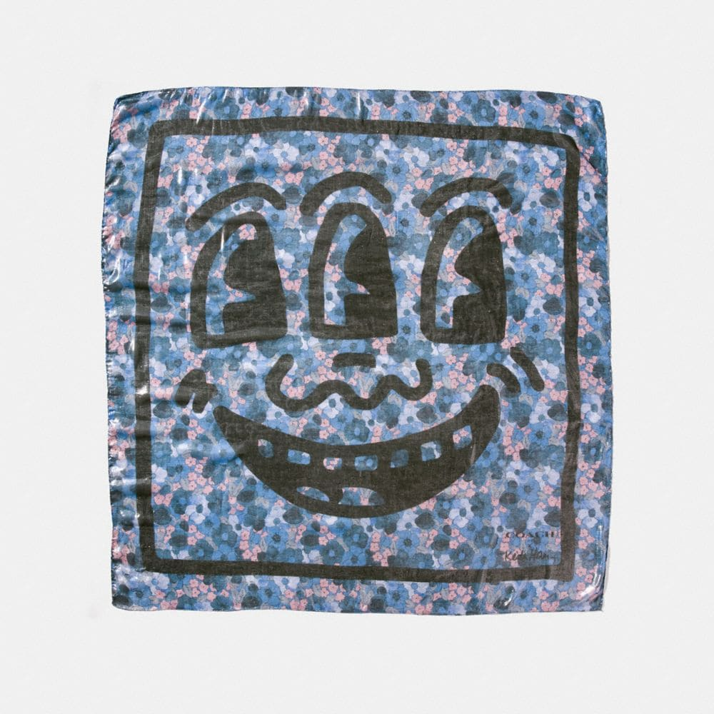 COACH X KEITH HARING SQUARE SCARF
