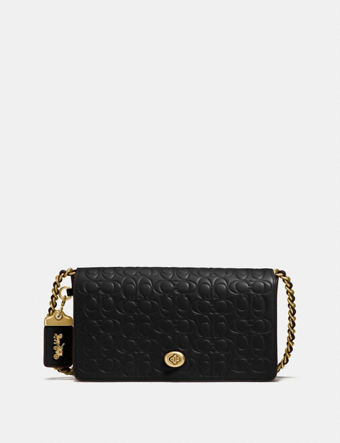 Coach Dinky in Signature Leather Black/Old Brass