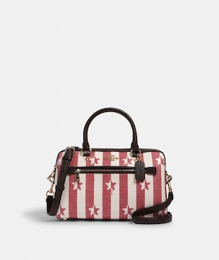 ROWAN SATCHEL WITH STRIPE STAR PRINT