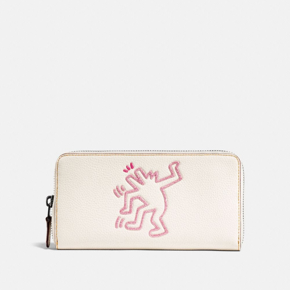 COACH X KEITH HARING ACCORDION ZIP WALLET