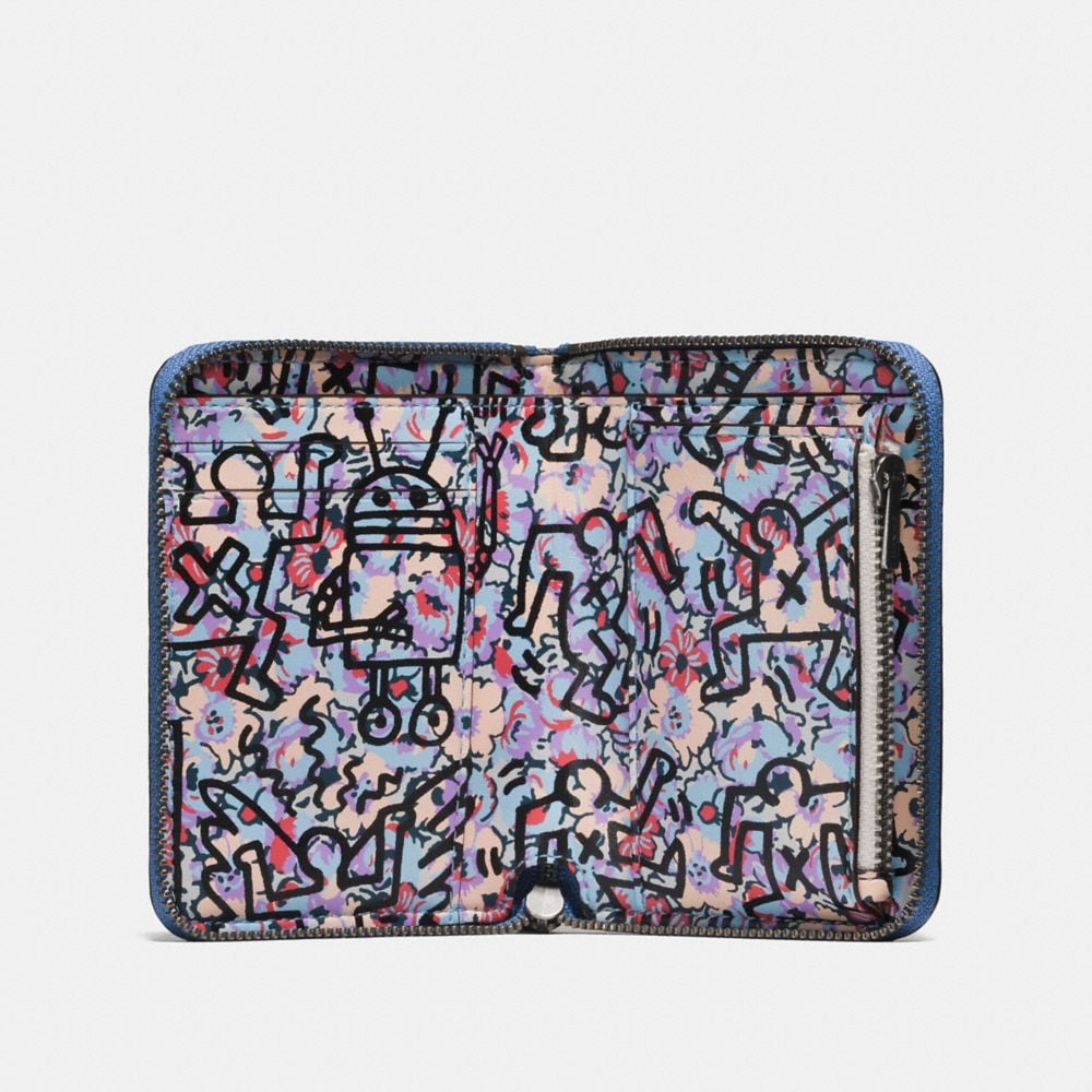 Coach Coach X Keith Haring Small Zip Around Wallet Alternate View 1