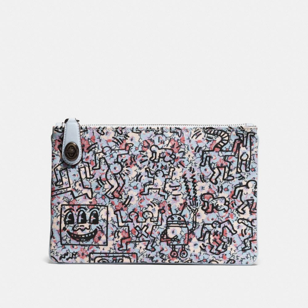 COACH X KEITH HARING TURNLOCK POUCH 26