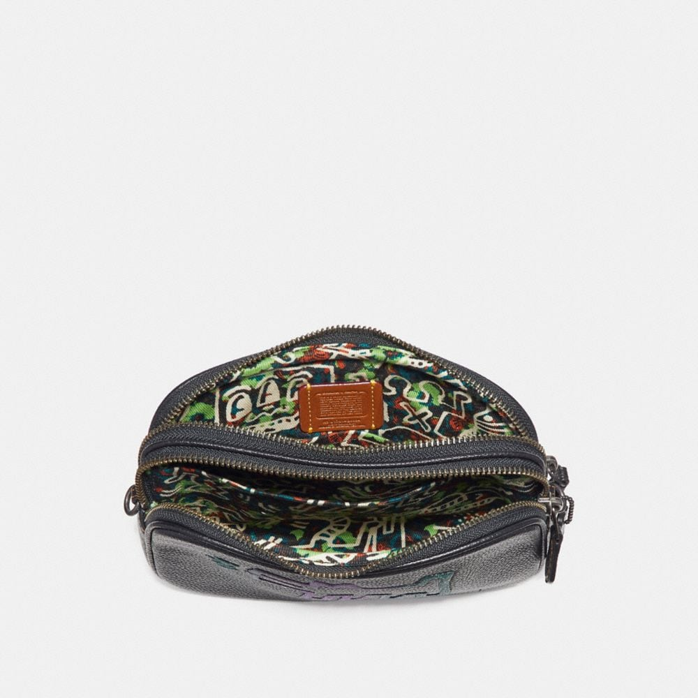 Coach Coach X Keith Haring Crossbody Clutch Alternate View 2
