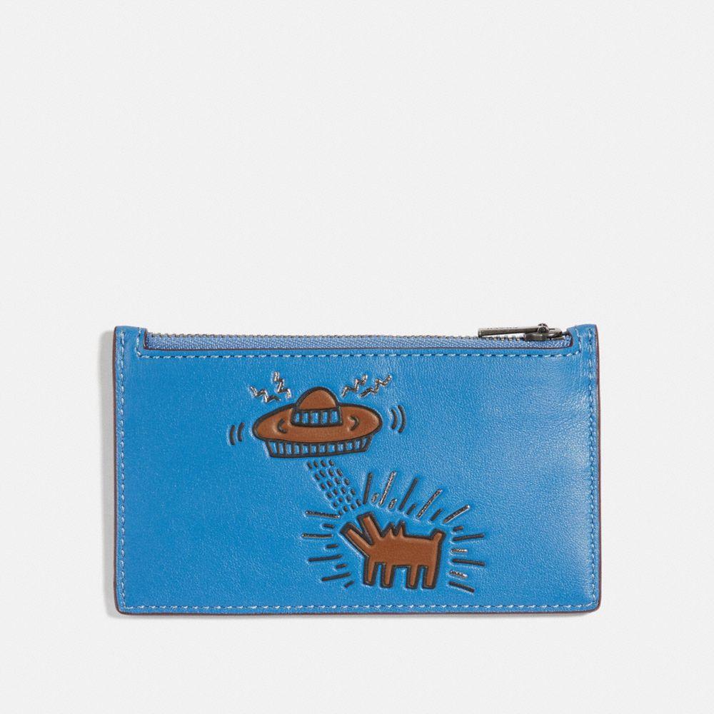COACH X KEITH HARING ZIP CARD CASE