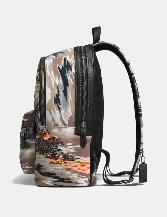 Coach Coach X Keith Haring Academy Backpack Black Copper/Hawaiian Brown DEFAULT_CATEGORY Alternate View 1