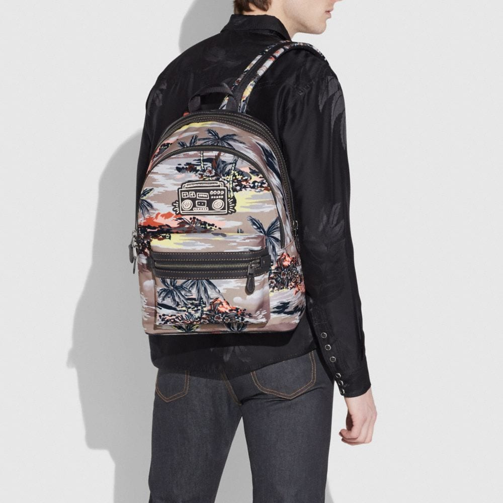 Coach Coach X Keith Haring Academy Backpack in Cordura® Fabric Alternate View 3