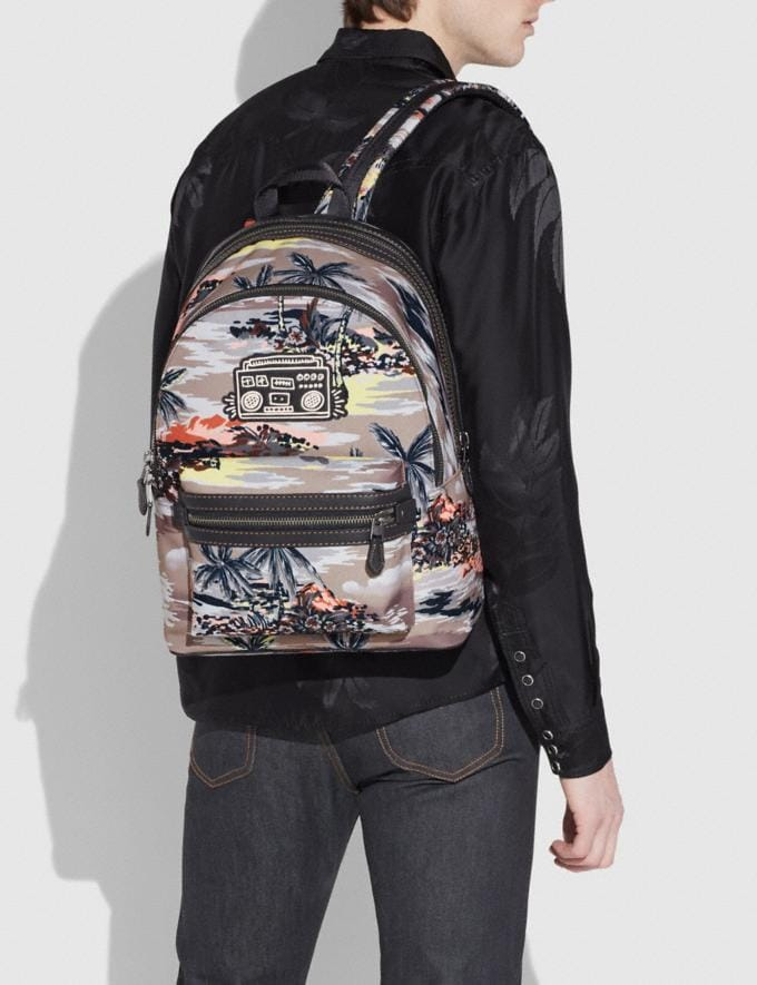 Coach Coach X Keith Haring Academy Backpack Black Copper/Hawaiian Brown DEFAULT_CATEGORY Alternate View 3