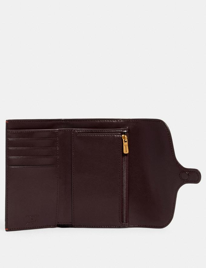 Coach Jade Medium Envelope Wallet in Signature Canvas With Rexy by Guang Yu Qb/Khaki Multi Women Wallets Alternate View 1