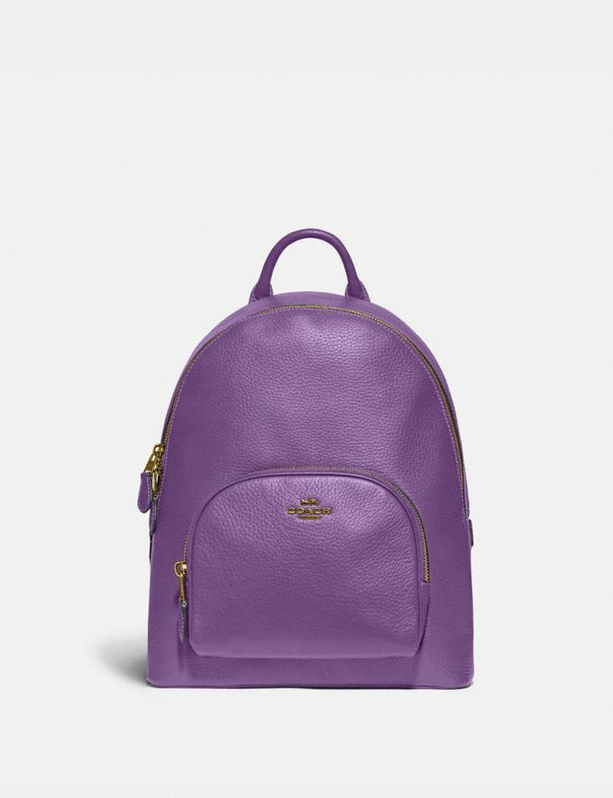 Coach Carrie Backpack 23 Brass/Bright Violet Women Handbags Backpacks