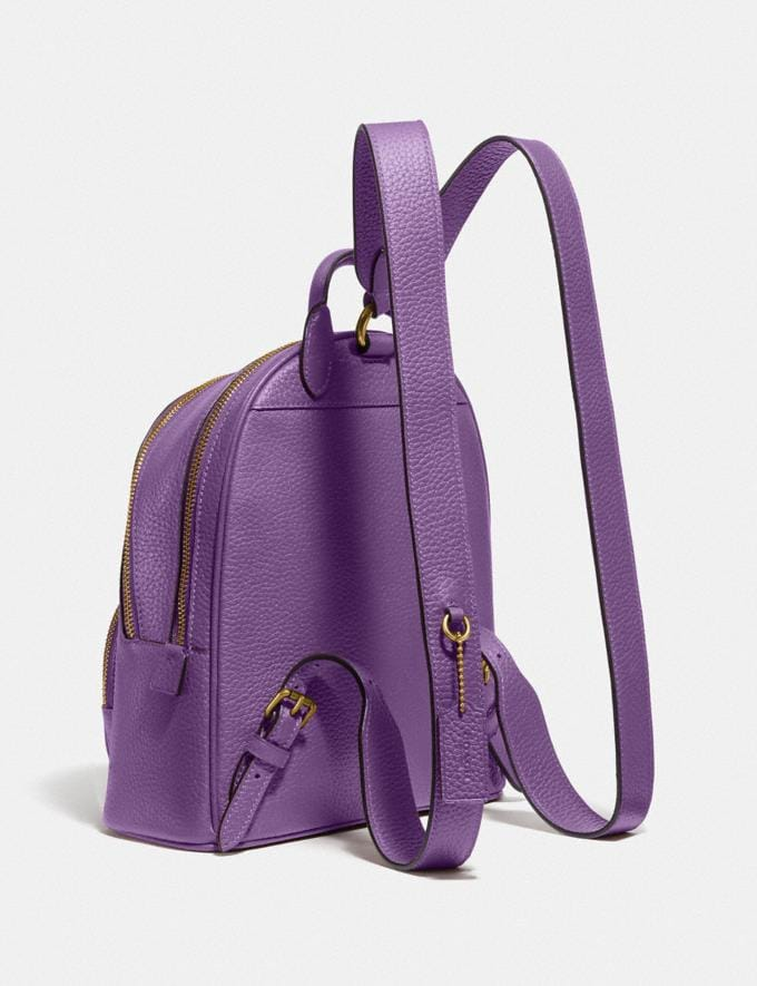 Coach Carrie Backpack 23 Brass/Bright Violet New Featured Coach Pride Collection Alternate View 1