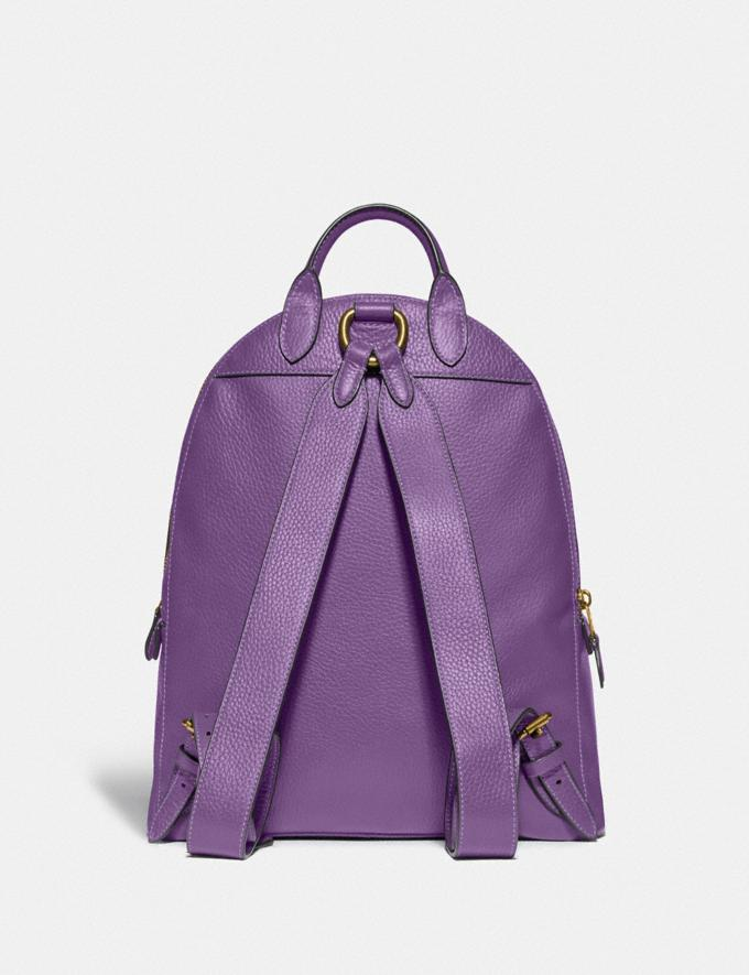 Coach Carrie Backpack 23 Brass/Bright Violet New Featured Coach Pride Collection Alternate View 2