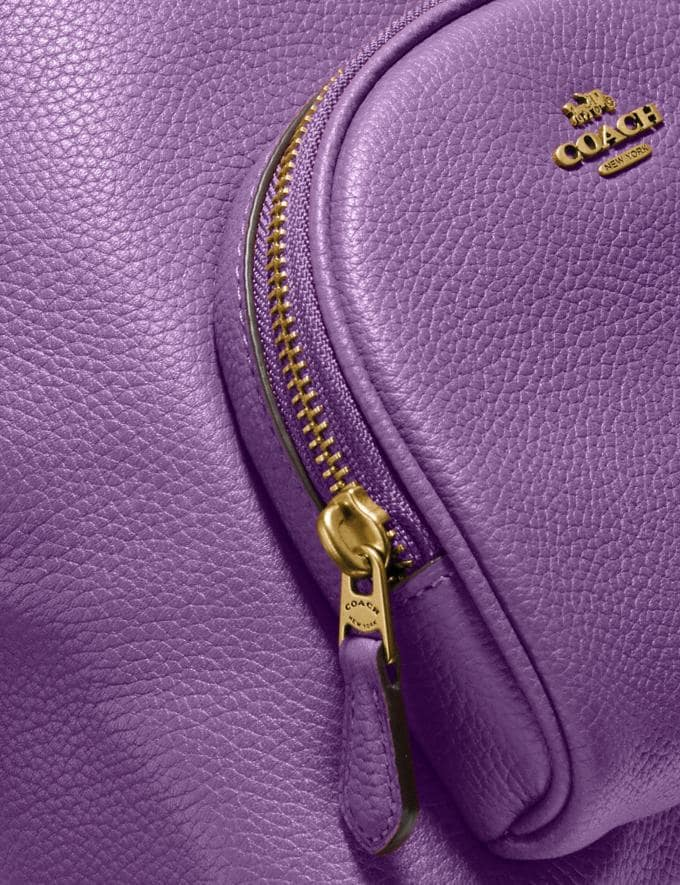 Coach Carrie Backpack 23 Brass/Bright Violet Women Handbags Backpacks Alternate View 5