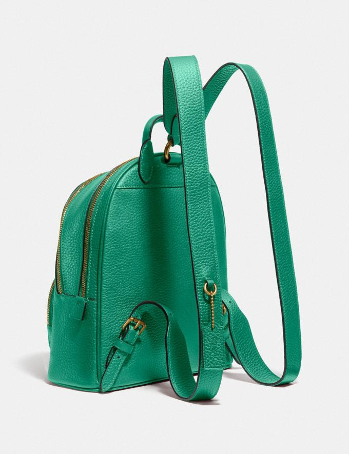 Coach Carrie Backpack 23 Brass/Green New Featured Coach Pride Collection Alternate View 1