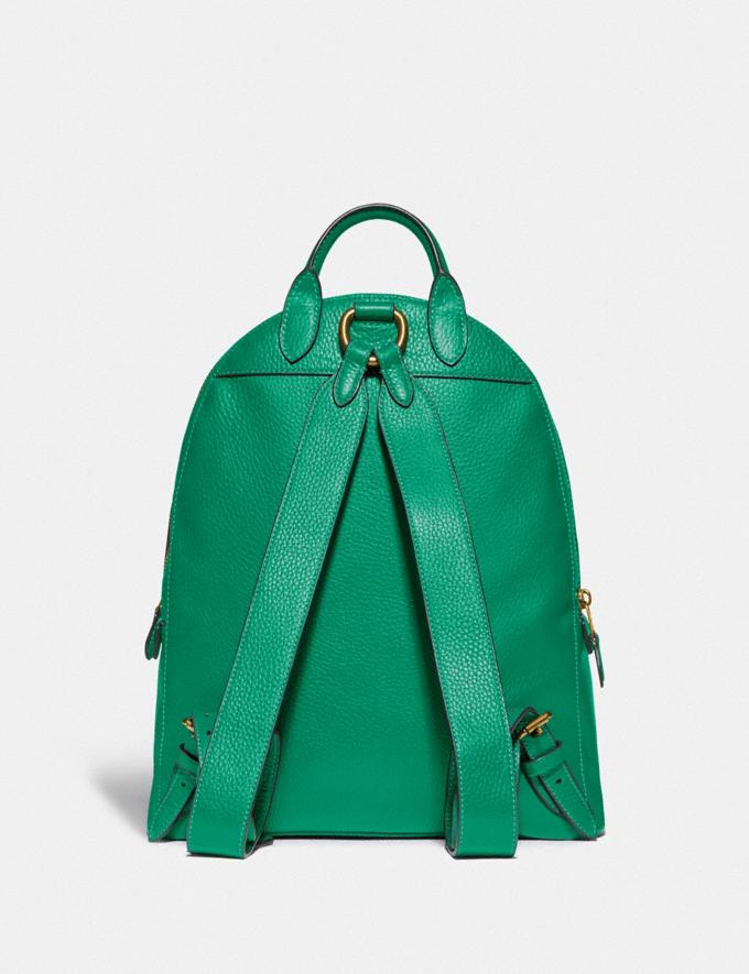 Coach Carrie Backpack 23 Brass/Green New Featured Coach Pride Collection Alternate View 2