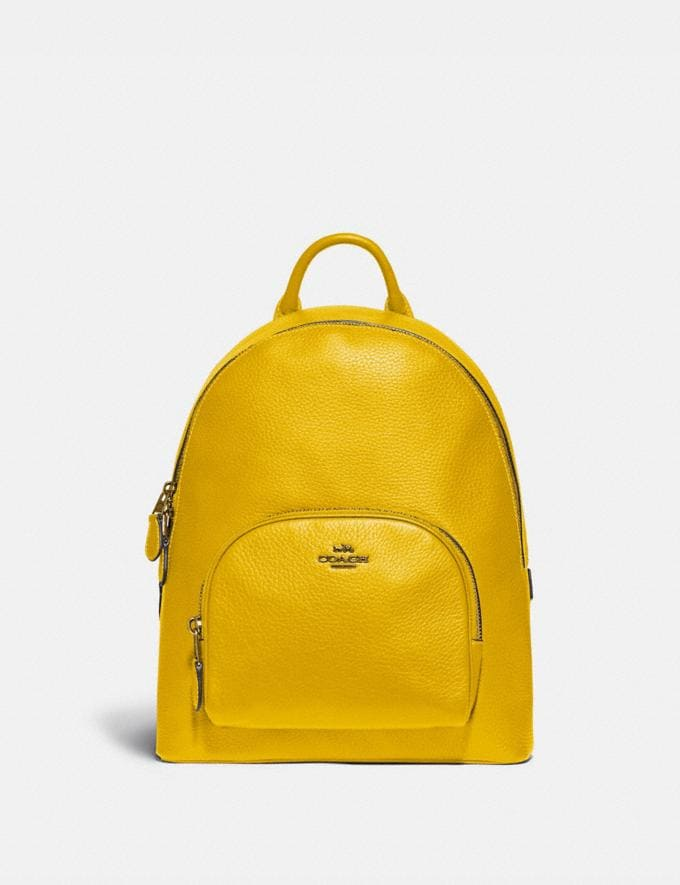 Coach Carrie Backpack 23 Brass/Lemon New Featured Coach Pride Collection