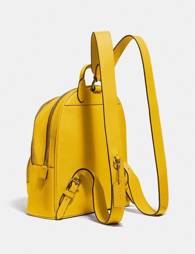 Coach Carrie Backpack 23 Brass/Lemon Women Handbags Backpacks Alternate View 1