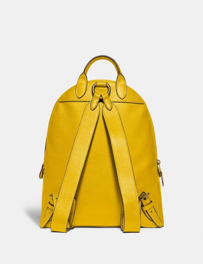 Coach Carrie Backpack 23 Brass/Lemon New Featured Coach Pride Collection Alternate View 2