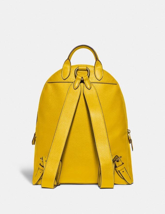 Coach Carrie Backpack 23 Brass/Lemon Women Handbags Backpacks Alternate View 2