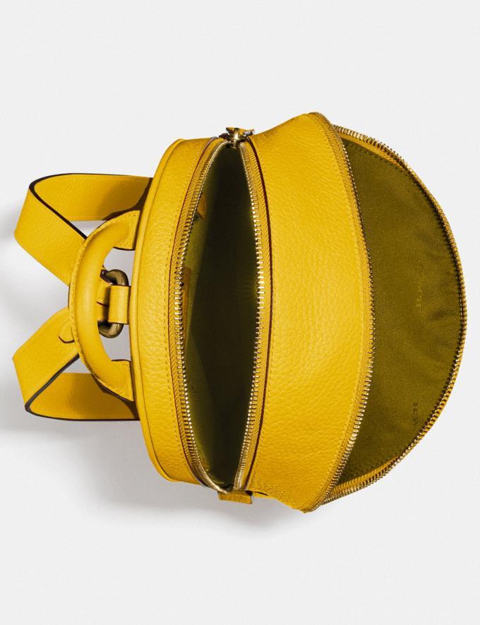 Coach Carrie Backpack 23 Brass/Lemon Women Handbags Backpacks Alternate View 3