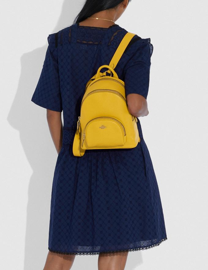 Coach Carrie Backpack 23 Brass/Lemon New Featured Coach Pride Collection Alternate View 4