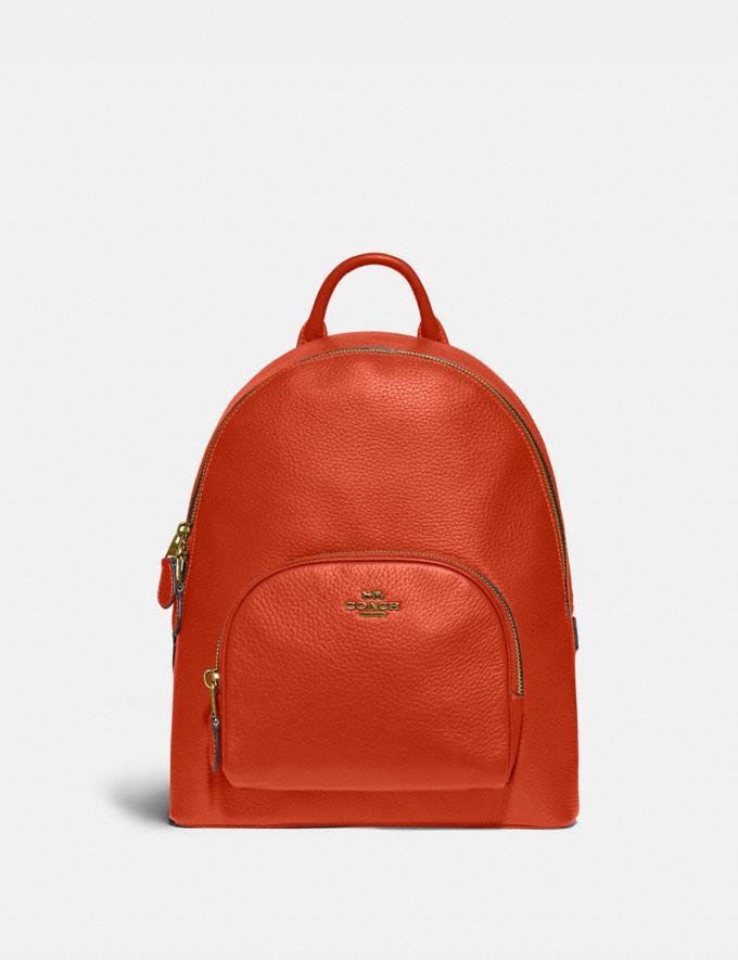 Coach Carrie Backpack 23 Brass/Mango Women Handbags Backpacks