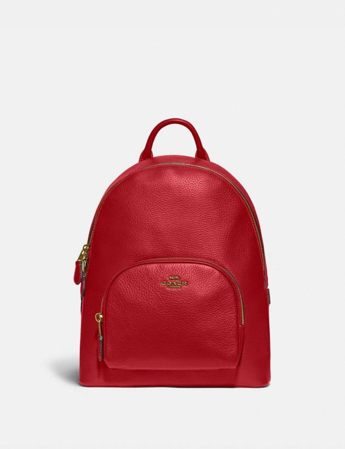 Coach Carrie Backpack 23 Brass/Red Apple New Featured Coach Pride Collection