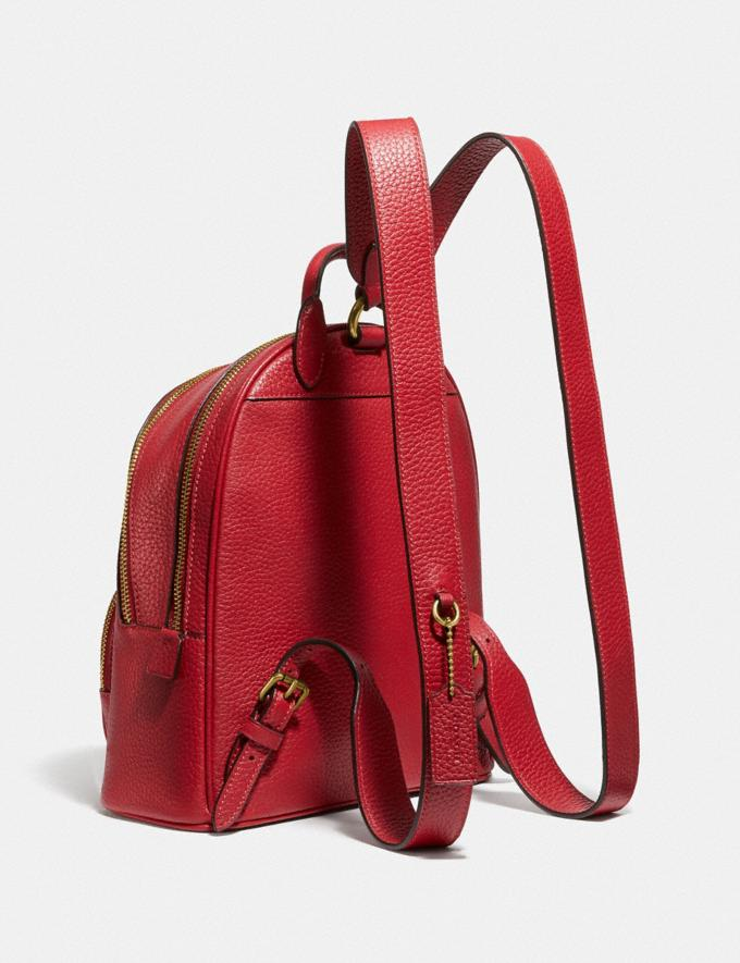 Coach Carrie Backpack 23 Brass/Red Apple Women Handbags Backpacks Alternate View 1