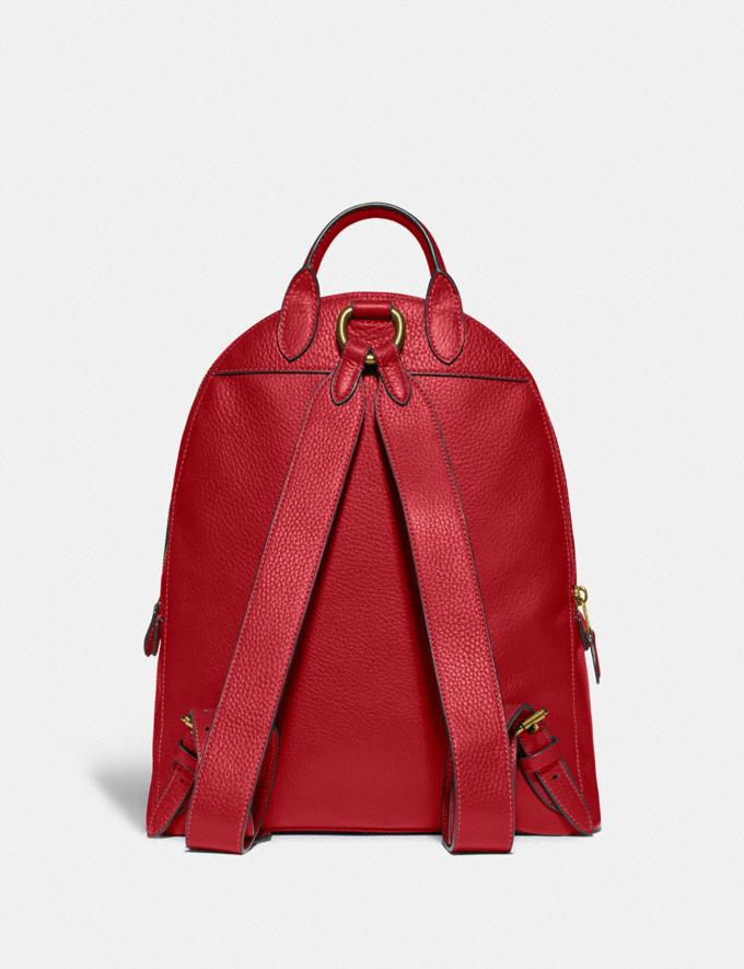 Coach Carrie Backpack 23 Brass/Red Apple Women Handbags Backpacks Alternate View 2