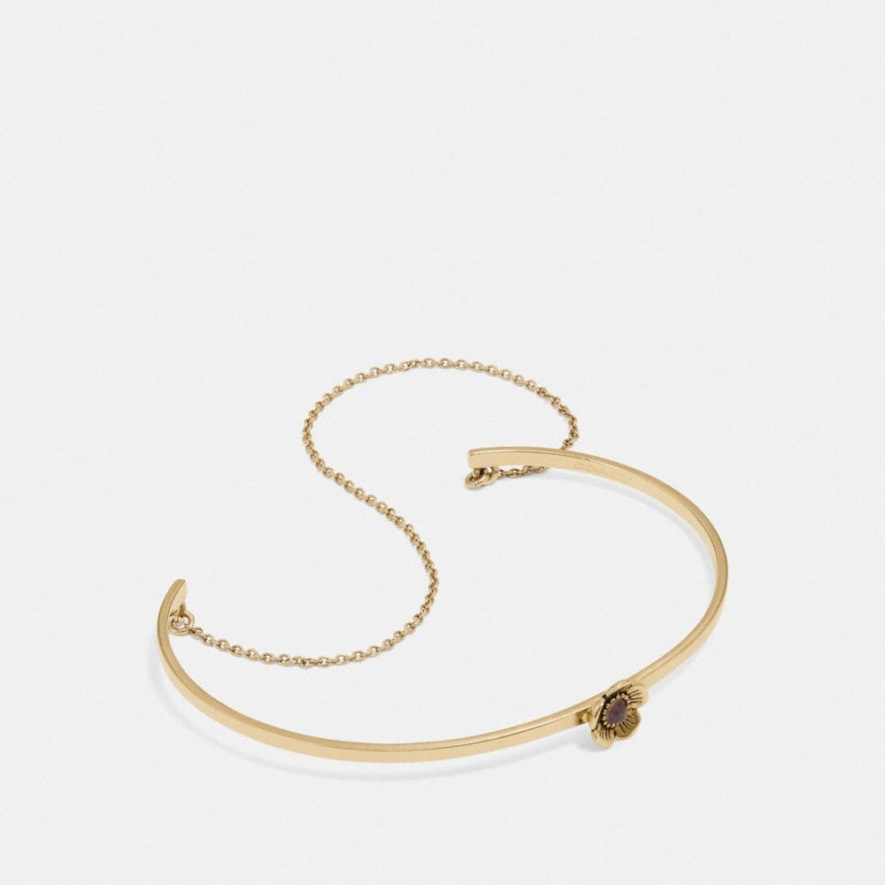 Coach Demi-Fine Tea Rose Chain Cuff