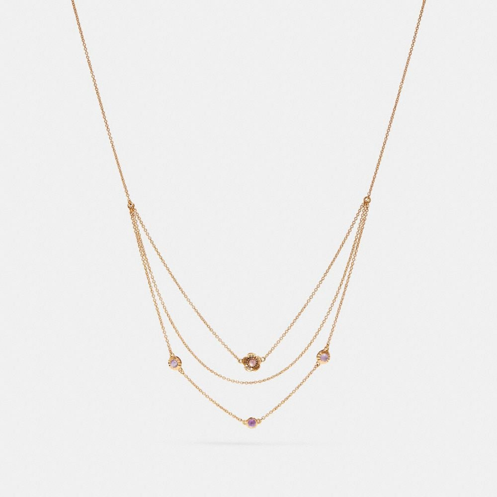 Coach Demi-Fine Sunburst Layered Chain Necklace