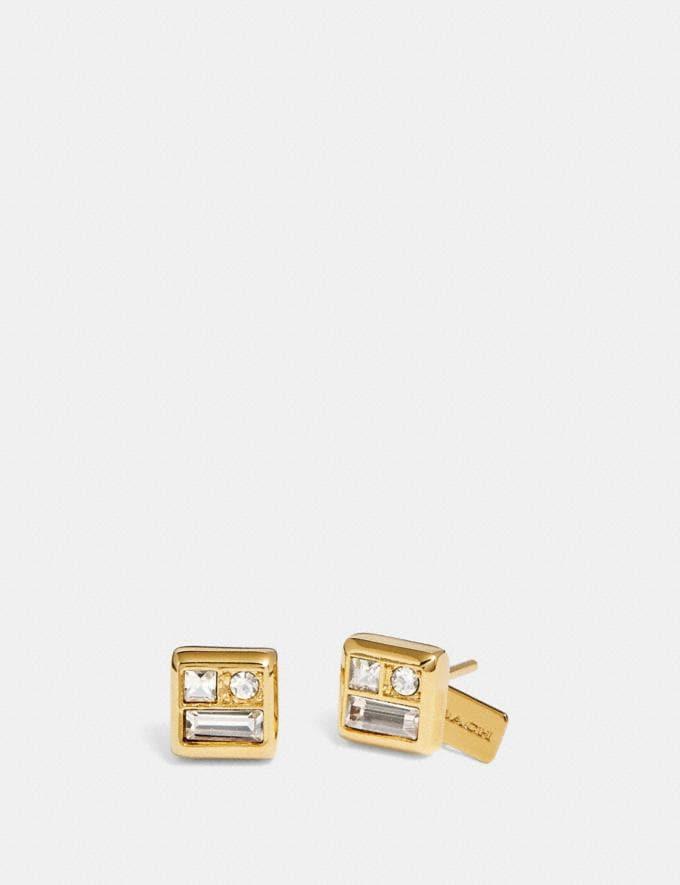 905e826df Coach Antique Crystal Stud Earrings Gold Women Accessories Jewelry Earrings