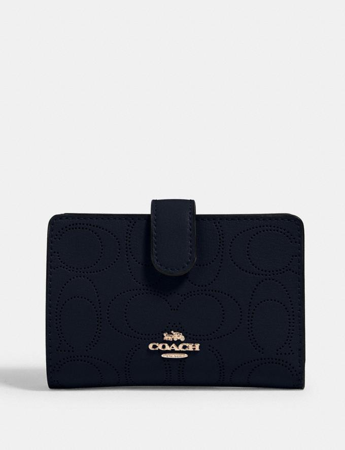 Coach Medium Corner Zip Wallet in Signature Leather Im/Midnight