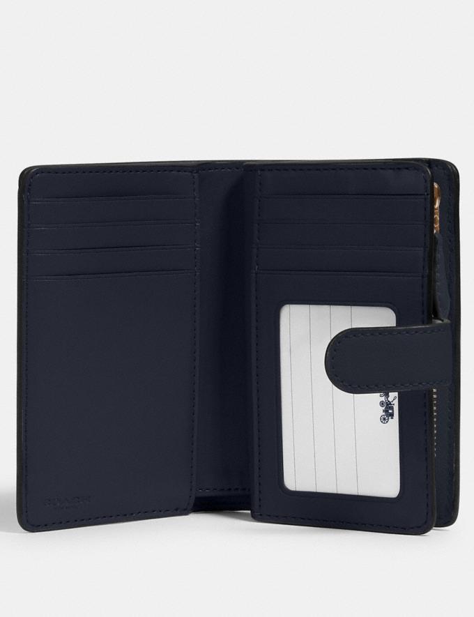 Coach Medium Corner Zip Wallet in Signature Leather Im/Midnight  Alternate View 1