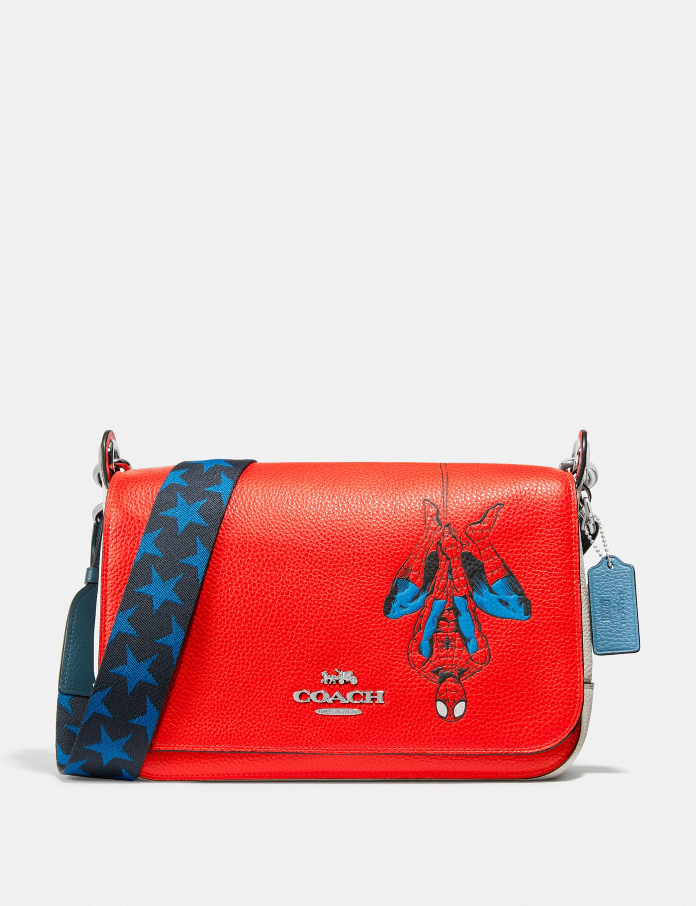Coach Marvel Jes Messenger With Spider-Man