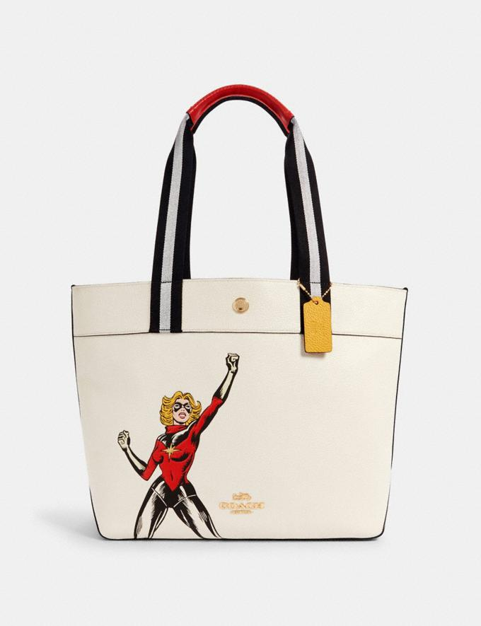 COACH │ MARVEL JES TOTE WITH CAROL DANVERS