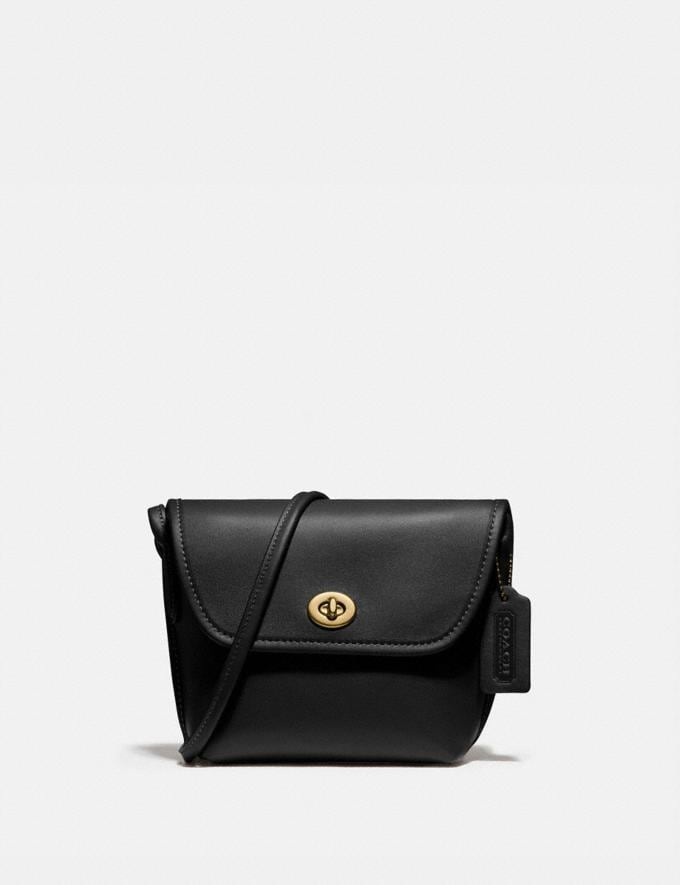 Coach Turnlock Pouch Brass/Black Gifts For Her