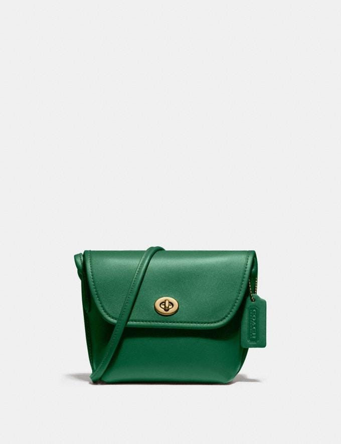 Coach Turnlock Pouch B4/Green New Women's New Arrivals Collection