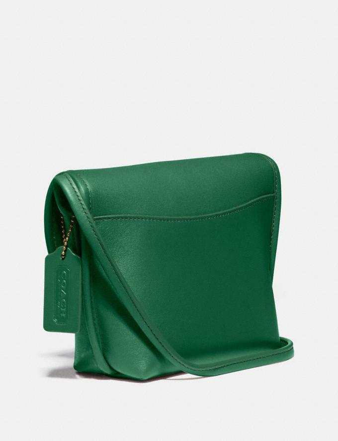 Coach Turnlock Pouch B4/Green New Women's New Arrivals Collection Alternate View 1