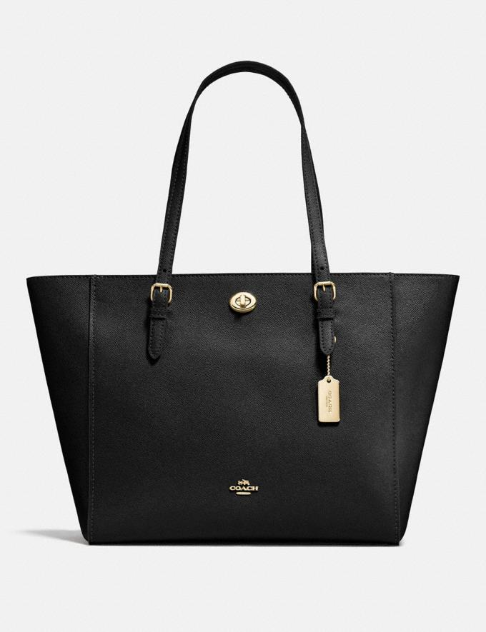 Coach Turnlock Tote Black/Light Gold SALE Women's Sale