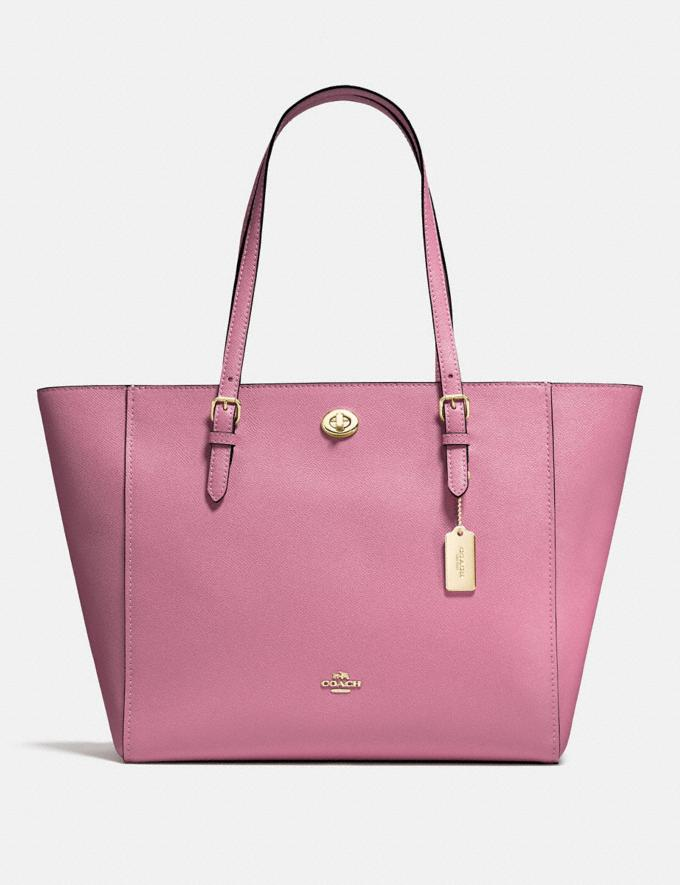 Coach Turnlock Tote Li/Rose