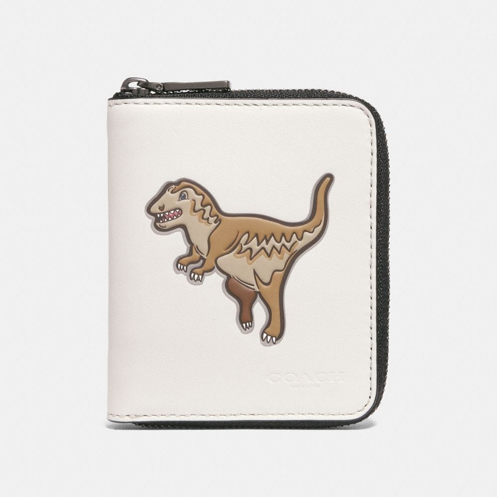 Coach Small Zip Around Wallet With Mascot