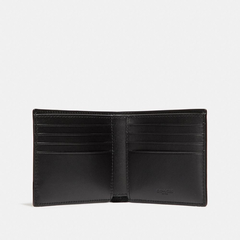 Coach Double Billfold Wallet With Mascot Alternate View 1