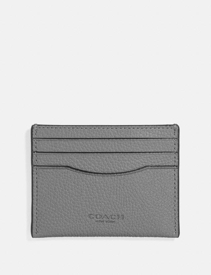 Coach Card Case Heather Grey Men Wallets Card Cases