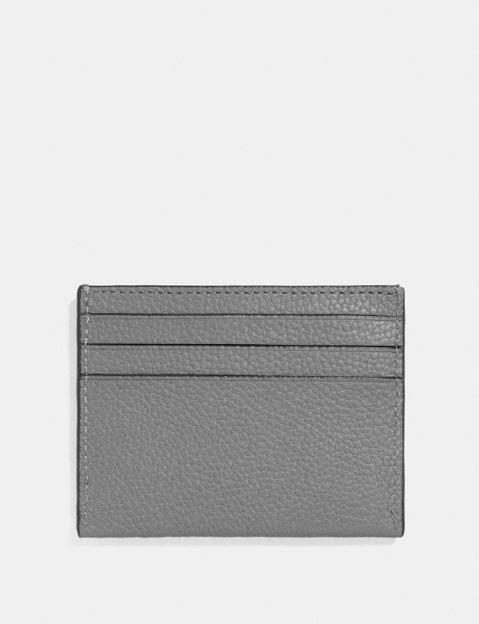 Coach Card Case Heather Grey Men Wallets Card Cases Alternate View 1