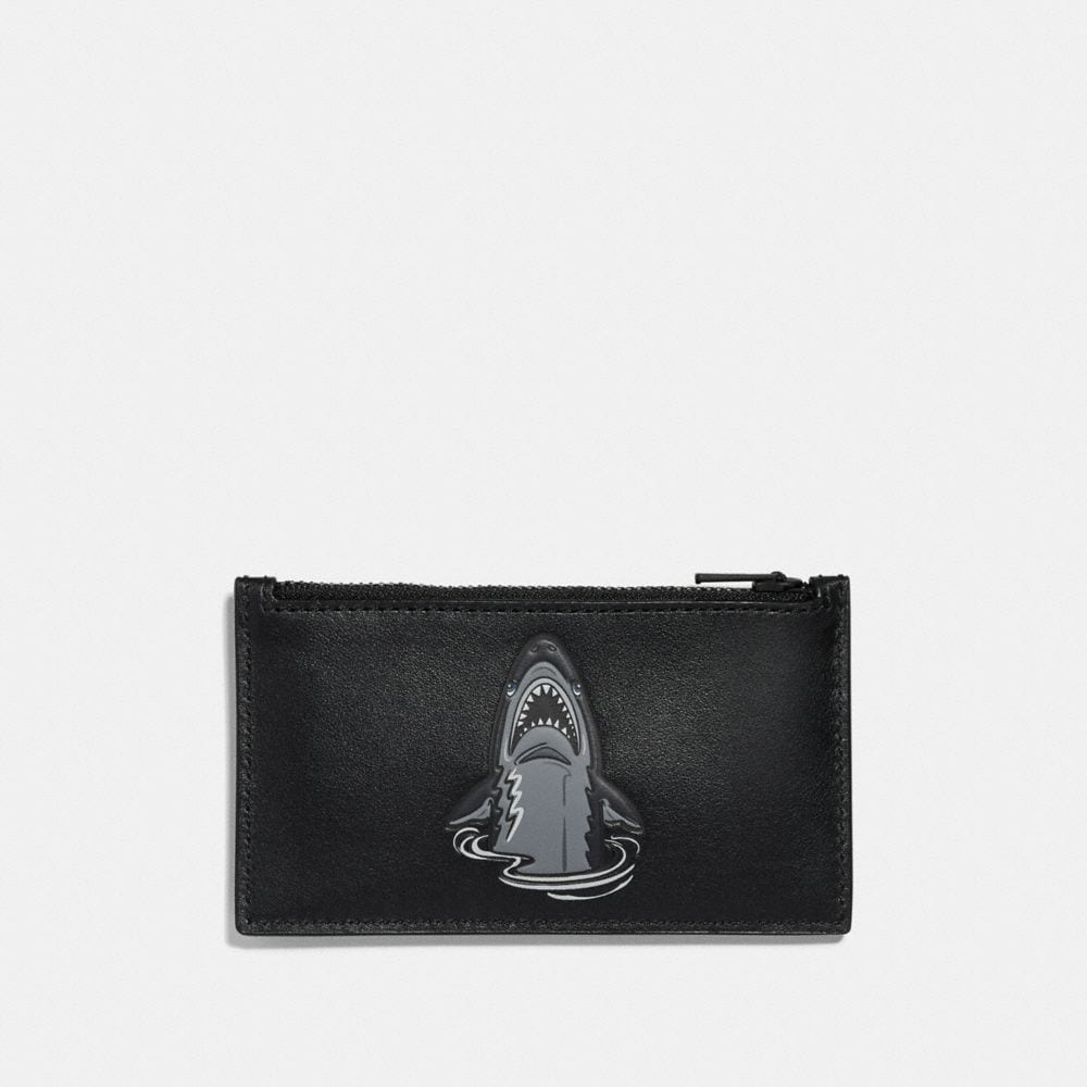 Coach Zip Card Case With Mascot