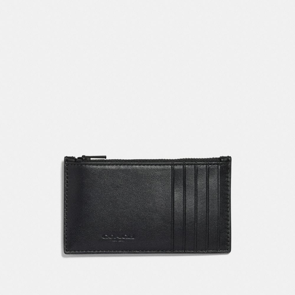 Coach Zip Card Case With Mascot Alternate View 1